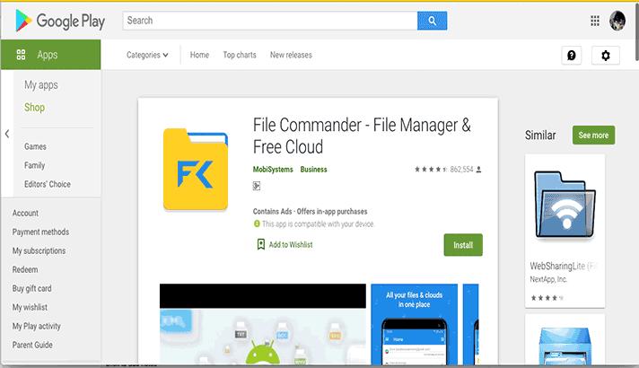 Gunakan file commander untuk mendukung 5 langkah menyembunyikan folder