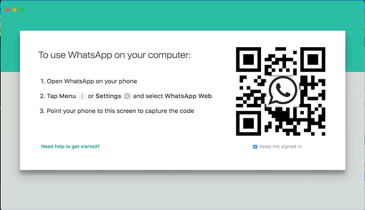 qr code whatsapp desktop