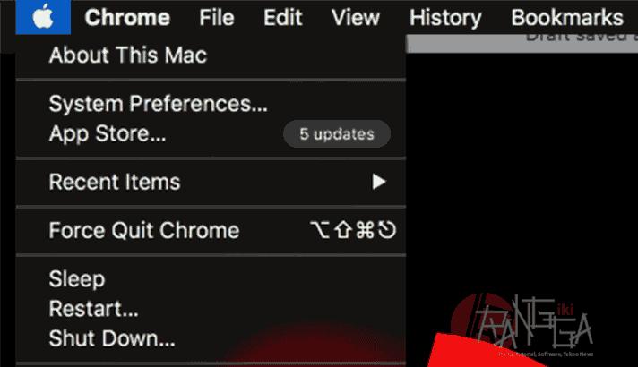 menggunakan about this mac untuk cek serial number macbook pro